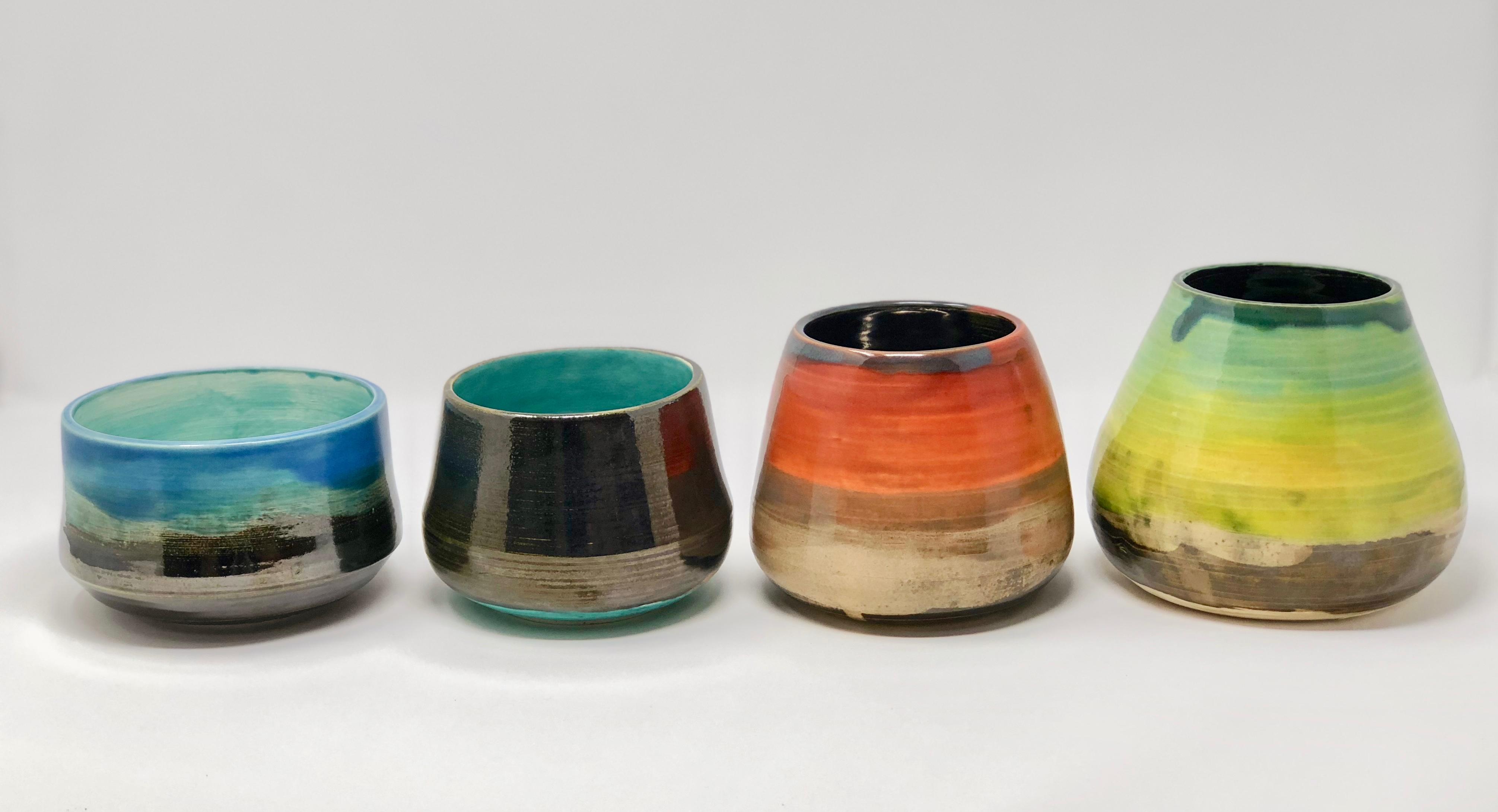 Landscape pottery pots