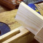 Mortise & Tenon joint in softwood with tools