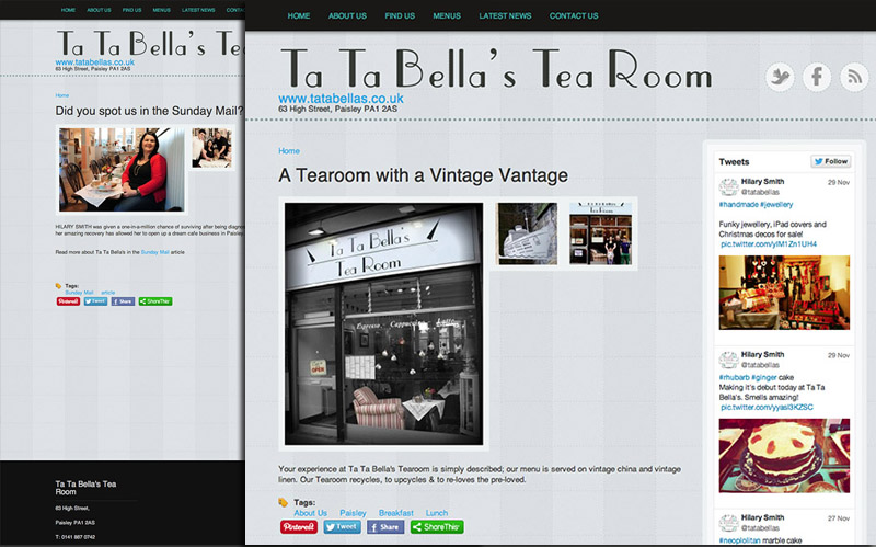 Tea Room Identity & Web