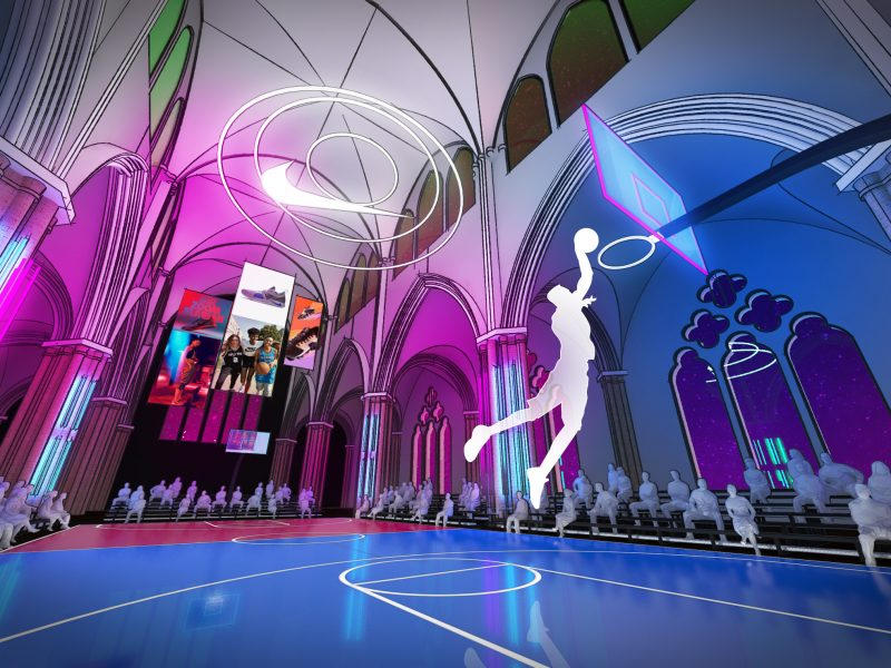 Basketball in a Cathedral